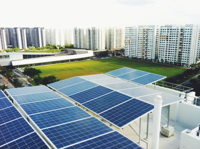 Panel solar edificios